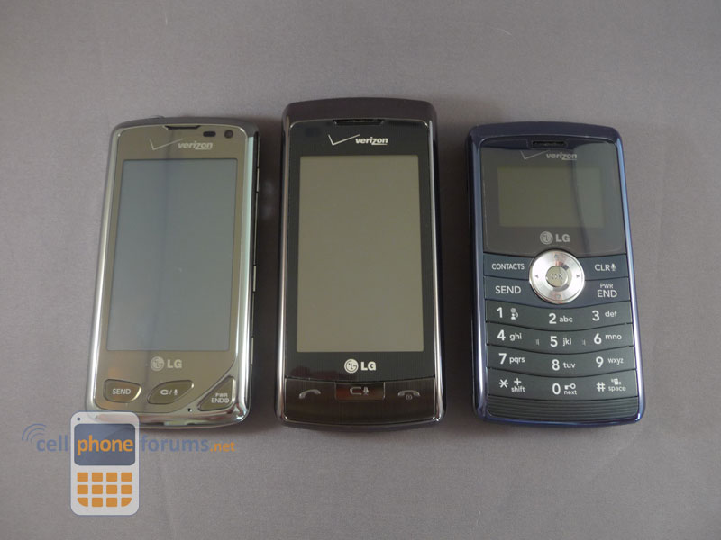 Lg Chocolate Touch Vs Env Touch Vs Env3 Comparison Review